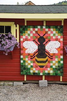 Tiger Lily Bee Quilt Kit at Craft of Quilting