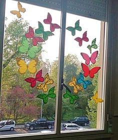 Window Decorating, Spring Crafts, Diy And Crafts, Creations, Birthdays, Classroom, Nursery, Jar, Windows