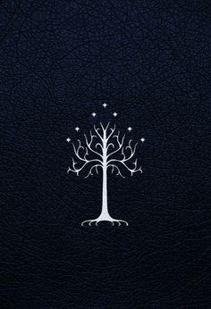 white tree of gondor wallpaper Tree Of Gondor Wallpaper, Lotr Tattoo, Tree Of Gondor Tattoo, White Tree Of Gondor, Lord Of The Rings Tattoo, Pix Art, O Hobbit, Fellowship Of The Ring, Jrr Tolkien
