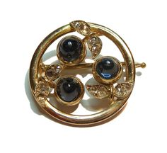 A gold and gem-set brooch by Fabergé, Workmaster August Hollming St. Petersburg, 1896-1908.
