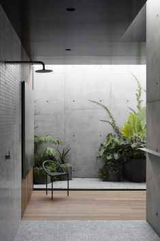 Concrete arcs frame courtyard views at Melbourne house by Edition Office - Domus Concrete Architecture, Interior Architecture, Architecture Awards, Garden Architecture, Residential Interior Design, Tyni House, Loft House, Concrete Interiors, Internal Courtyard