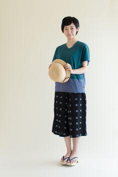 Culotte Pants Chizimi Cotton Squares : SOU • SOU US Online Store
