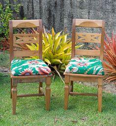 Cadeiras prontas, um novo assento estofado para uma nova vida