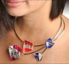 Necklace |  Pavel Novak.  Glass