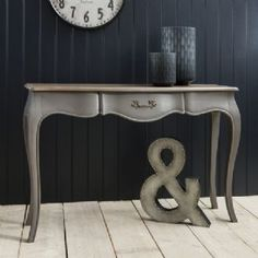 Maison French Console Table Painted In Dark Grey