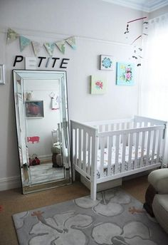 I love the idea of an all white nursery