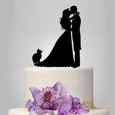 acrylic wedding cake topper bride and groom por walldecal76 en Etsy
