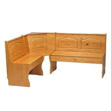 Features:  -Easily saves space while adding seating to any corner.  -Nook pieces can be interchanged to fit in a right or left-facing corner.  Bench Type: -Kitchen bench.  Seat Material: -Manufactured
