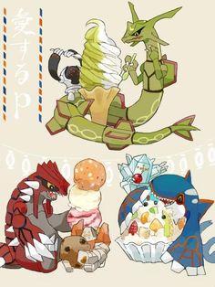 Rayquaza,Groudon and Kyogre Pokemon Mew, Kalos Pokemon, Pokemon Eeveelutions, Pokemon Ships, Pokemon Comics, Pokemon Funny, Pokemon Fan Art, Pokemon Images, Pokemon Pictures