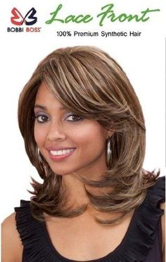 Bobbi Boss Premium Synthetic Hair Lace Front Wig - SAGE Bobbi Boss Lace Front Wig has been created for.Best Mid Length Hairstyles for African American WomenMost Wanted Mid Length Hairstyles for Women That Make You Pretty and Fascinating for Parties a Medium Shaggy Hairstyles, Easy Hairstyles, Middle Hairstyles, Pretty Hairstyles, Medium Hair Styles, Curly Hair Styles, Natural Hair Styles, Mid Length Hair, Shoulder Length Hair