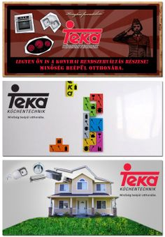 Mock-ups for a Teka tender.