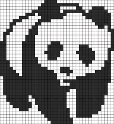Panda Perler Perler Bead Pattern / Bead Sprite