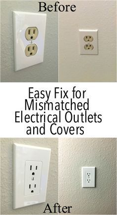 I definetely need this! My house has the old almond colored electrical outlets.I definetely need this! My house has the old almond colored electrical outlets. Such a better updated, modern look. Electrical Outlet Covers, Electrical Outlets, Electrical Wiring, Home Improvement Projects, Home Projects, Home Improvements, Do It Yourself Organization, Do It Yourself Furniture, House Ideas