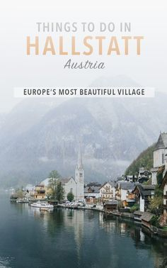 Hallstatt might be one of the most famous villages in the world! Although small, there are a lot of things to do in oh-so-charming Hallstatt as well as the surrounding Salzkammergut region. #TravelDestinations