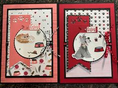 Stampin' Up! Playful Pets Suite | Mary's House of Cards and More Cat Cards, Kids Cards, Dog Cards Handmade, Dog Items, Stamping Up Cards, Animal Cards, Card Making Inspiration, Card Sketches, Stampin Up