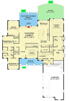 Plan Country Craftsman House Plan With Optional Second Floor Country Craftsman House Plan With Optional Second Floor – floor plan – Main Level Dream House Plans, House Floor Plans, Architectural Design House Plans, Architecture Design, Courtyard Entry, Floor Layout, Craftsman House Plans, Craftsman Homes, Craftsman Style
