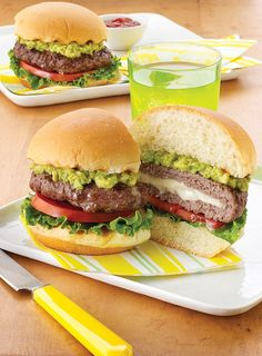 Do you love to put avocado on EVERYTHING? We've topped these California Burgers with fresh guacamole and filled them with melty Deli American.