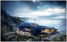For today we gather A Set Of Extraordinary Villas with a Modern Architecture. Blurring the lines between vernacular architecture and modernist design principals allows home exteriors to become something more than just a beautiful facade. 3d Architectural Visualization, 3d Visualization, Vernacular Architecture, Modern Architecture, Cliff House, Matte Painting, British Columbia, West Coast, Facade