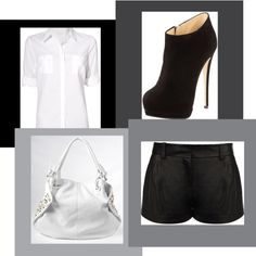 """Black & White"" by krs1215 on Polyvore"