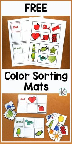 Community Helpers Preschool Discover FREE Color Sorting Mats - kids will have fun practicing identifying major colors with these free printable reusable sorting activity. Perfect for toddler preschool kindergarten and first grade kids. Color Activities For Toddlers, Printable Activities For Kids, Preschool Learning Activities, Preschool Printables, Preschool Worksheets, Toddler Preschool, Color Sorting For Toddlers, Colors For Toddlers, Toddler Color Games