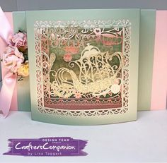 Panorama card made using Sara Signature Vintage Tea Party Collection –designed by Lisa Taggart #crafterscompanion #ccgemini
