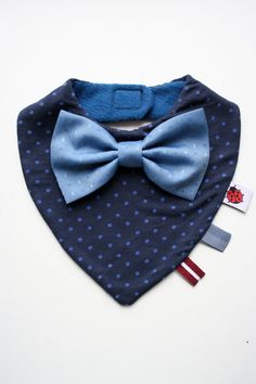 Baby bib boy removable bow tie, nice baby shower, baptism / christening gift for newborn, infant