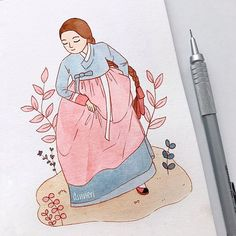 "vivie °◡° on Instagram: ""Hanbok from Korea what traditional clothes should I do next? 😌 let me know the clothes' name! 🧡"""