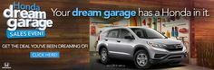 Dream, build and win! A Honda of your dreams or $50,000 for that dream garage! #FindlayHondaHenderson http://www.findlayhondahenderson.com/ http://www.findlayhondahenderson.com/honda-specials.htm