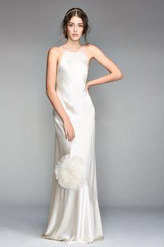 Willowby by Watters Gemini 50301 Sleek Sheath Wedding Dress - Off White Bride Elegant Wedding Dress, Perfect Wedding Dress, Wedding Gowns, Wedding Ceremony, Lace Wedding, Slip Wedding Dress, Glitter Wedding, Backless Wedding, Crystal Wedding