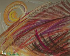 Tűz és víz - a két ellenpólus ezúttal, egymás mellett kiállítva, harmóniát teremt. A témát igyekeztem absztraktabb módon feldolgozni, színei által tökéletes dísze lehet otthonunknak!  Egy kép mérete 24 x 30 cm, együttesen egy 55 x 44 cm-es fotópapírra vannak felragasztva (lehet kérni anélkül is). A képeket pasztellkrétával készítettem színezett pasztellpapírra. Vásárlás után érdemes bekereteztetni, üveggel védeni, ugyanis a pasztell-képek fixálás után is elmosódhatnak!