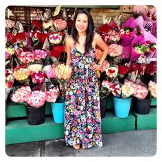 Gorgeous Day In Nyc... ☀definitely A #yumikim Maxi Dress Kinda Day! #flowerpower #ykmyway #bringonthesun By Yumi Kim