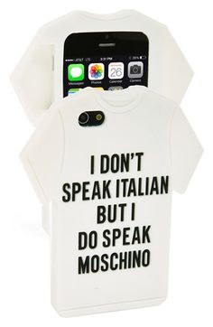 Moschino T-Shirt iPhone 5 & 5s Case available at #Nordstrom $75