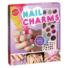 Klutz Nail Charms and thousands more of the very best toys at Fat Brain Toys. Make your manicure shimmer, sparkle, and shine with nail charms! Start your very own nail salon with gems and charms to wear on your nails. Nail Striping Tape, Nail Tape, Nail Charms, Nail Pictures, Nail Decorations, 3d Nails, Acrylic Nails, Nail Tools, Learn To Paint