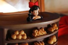 Thousands of fans of the Japanese animation, Kiki's Delivery Service, continue to make the pilgrimage to a small bakery in Ross. This ornament shows Kiki standing at the bakery counter. (Image: ABC/Fred Hooper) #kiki