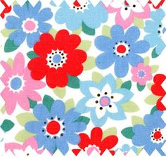 Retro Flowers Oil Cloth by Cath Kidston