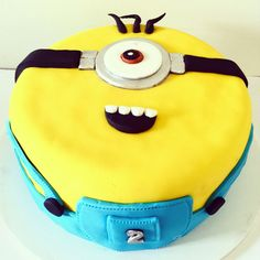 Cheeky Minion Cake for a cheeky two year old! Made with love by me