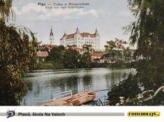 Planá, škola Na Valech  / Plan, Volks und Bürgerschule aus dem Schlosspark