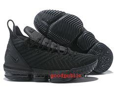 9a19cdd8d1217 Nouveau Nike LeBron 16 Chaussures De BasketBall Pas Cher Prix Homme Noir  AO2588_I130-1810171243-