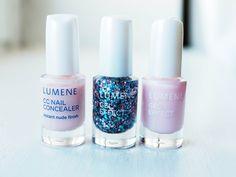 CC Nail Concealer & Gel Effect polishes by blogger Sara. #nailpolish #lumene