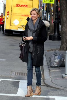 Love Cameron's Outfit with her Rag and Bone Newbury Boots