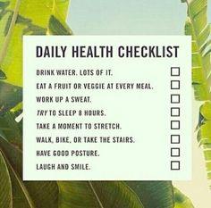 Daily heatlh checklist