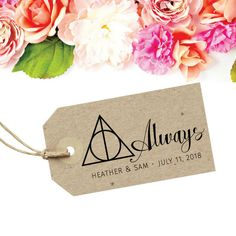 Harry Potter Wedding Stamp - Always Wedding Favor Tag - Harry Potter Always Sign - After All This Time - Unbreakable Vow For A Geeky Wedding by SouthernPaperAndInk on Etsy