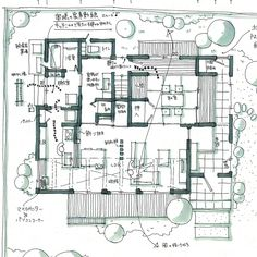 Architecture Concept Drawings, Japan Architecture, Architecture Board, Architecture Design, Floor Plan Sketch, Floor Plan Drawing, Interior Sketch, Modern Interior Design, Architectural Floor Plans