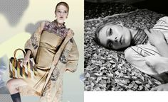 Gemma Ward and Julia Nobis by Steven Meisel for Prada Spring 2015