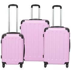New Trending Luggage: Best Choice Products Hardshell 3 Piece Luggage Set Spinner Travel Bag W/ TSA Lock- Pink. Best Choice Products Hardshell 3 Piece Luggage Set Spinner Travel Bag W/ TSA Lock- Pink   Special Offer: $84.94      244 Reviews Best Choice Products presents this 3 Piece Luggage Set. Ready, set, fly! This 3 piece travel set includes a 22″ carry-on luggage, 26″ small checked...
