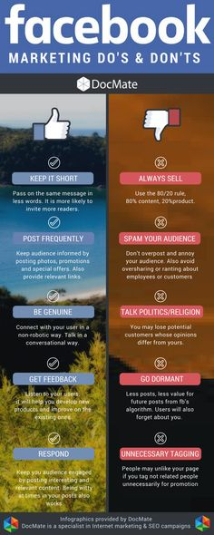 Facebook Marketing - Do's & Don'ts Infographic