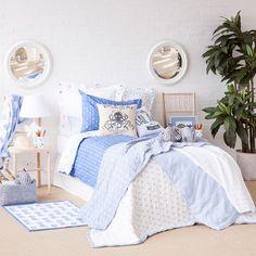 colcha y funda de coj n algod n estrellas colchas cama zara home espa a hab alex. Black Bedroom Furniture Sets. Home Design Ideas