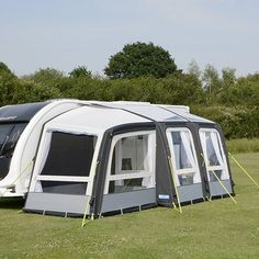 The Kampa Rally Air Pro 260 Plus extension is inflated at the same time as the rest of the awning, through the same inflation point, making it as easy to Luxury Dining Tables, Canopy Frame, Beautiful Table Settings, Accessories Store, Caravan, Rally, Touring, Outdoor Gear, Tent