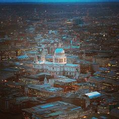 St Paul's Cathedral, #London from the Shard