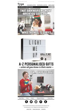 Typo's Kris Kringle based promotion targeted at  office and corporate workers. The campaign imagery uses a very commonly used 'meme' style humour to relate to a more younger social savvy demographic. #Event #Promotional